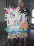 SKIP HOLDING BEACH BIRTHDAY POSTER