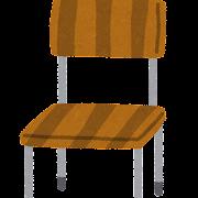 木の椅子のイラス