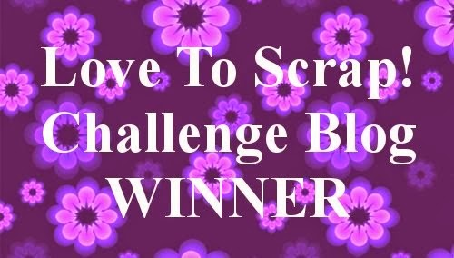 Winner Love To Scrap Challenge Blog