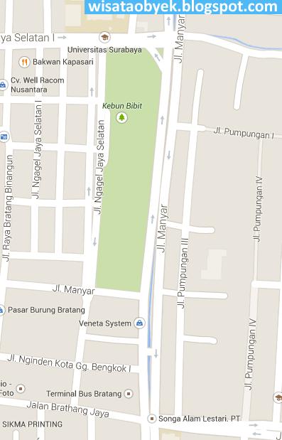 peta Taman Flora Wisata Murah Surabaya