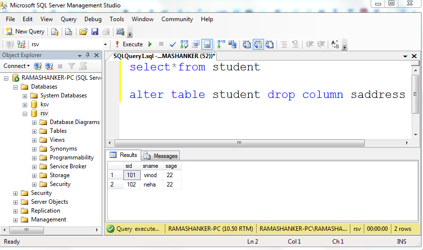 Microsoft sql server my net tutorials - Sql server alter table add column default ...
