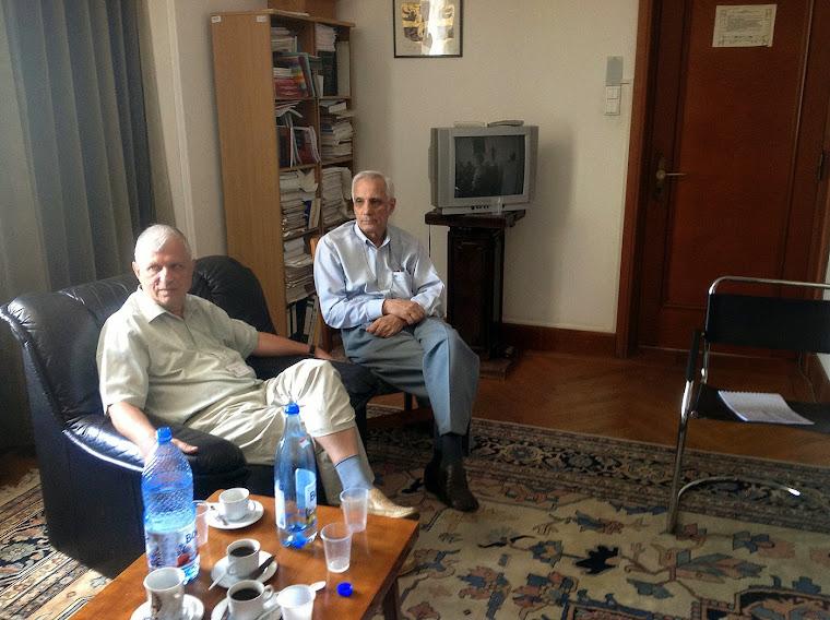 Prof.dr.NIcolae Marcov ( father ) si prof.Udriste