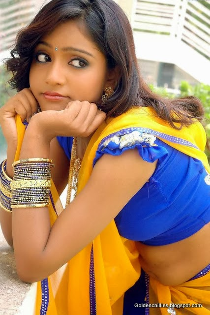 half saree south Indian actress hot
