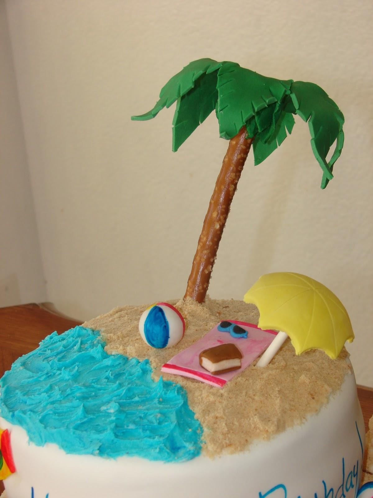 My Cake Hobby Hawaiian Beach Birthday Cake