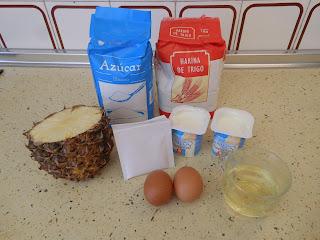 ingredientes muffins de piña