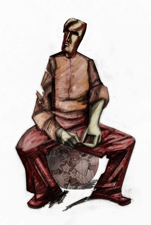 ilustracao illustration francisco lanca old men