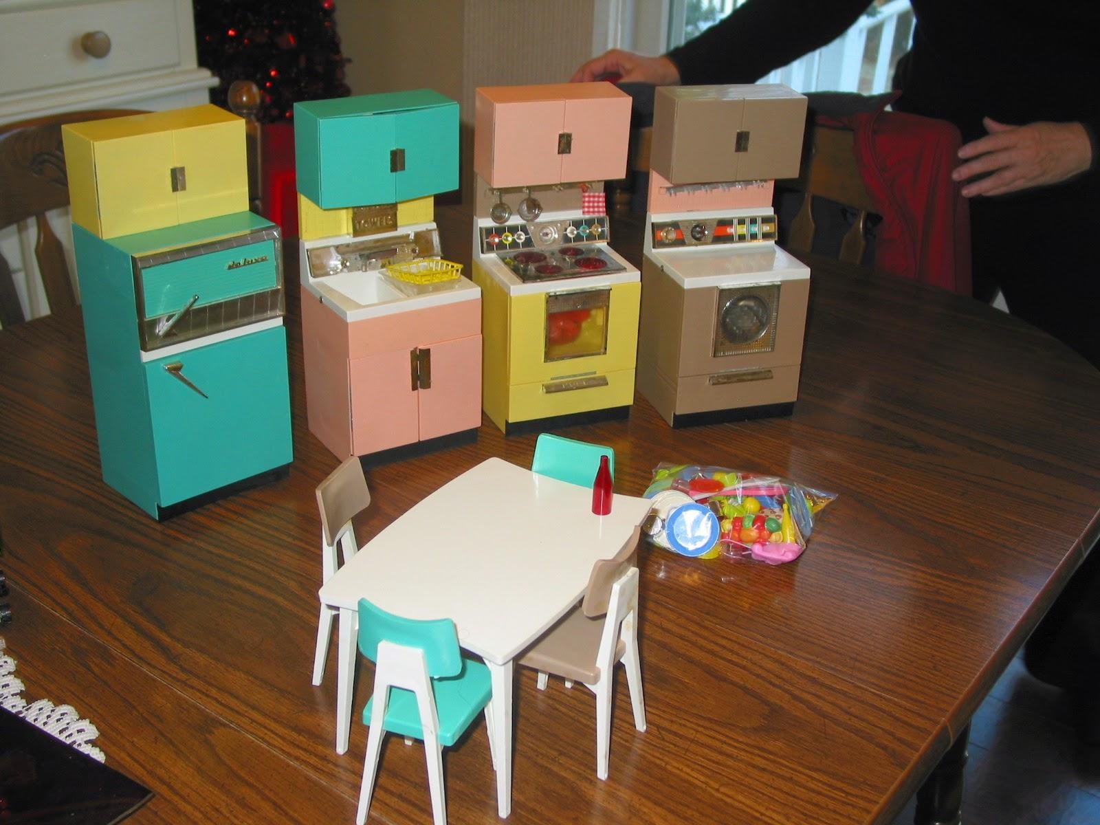 light at home antique barbie kitchen set