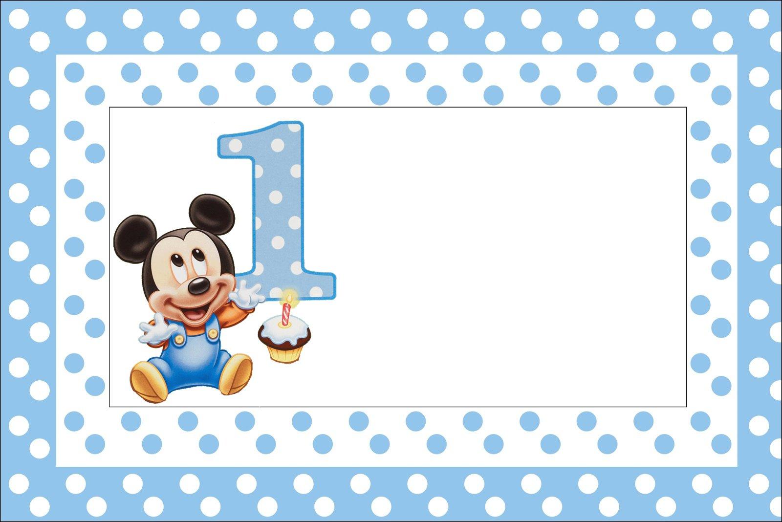 Imprimibles mickey cumple su primer a o 5 ideas y - Feliz cumpleanos bebe 1 ano ...