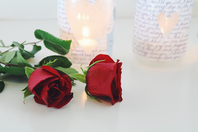 DIY votives, mason jar craft, how to make valentine's day gift
