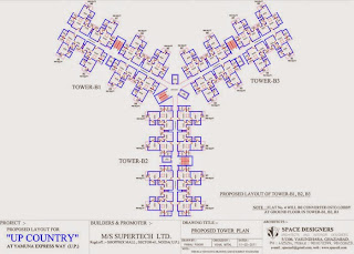 Up Country, Yamuna Expressway :: Floor Plans,Tower Plans :-TOWER B1, B2