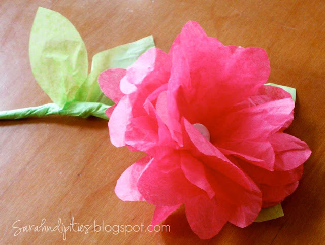 tissue paper flowers for kids
