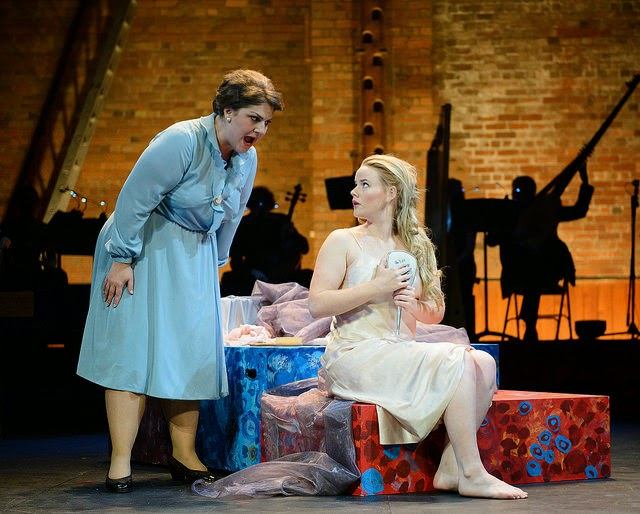 Rosie Aldridge and Elizabeth Holmes in Ryedale Festival Opera's Coronation of Poppea at Grimeborn Festival