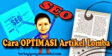 Cara Optimasi Artikel Lomba