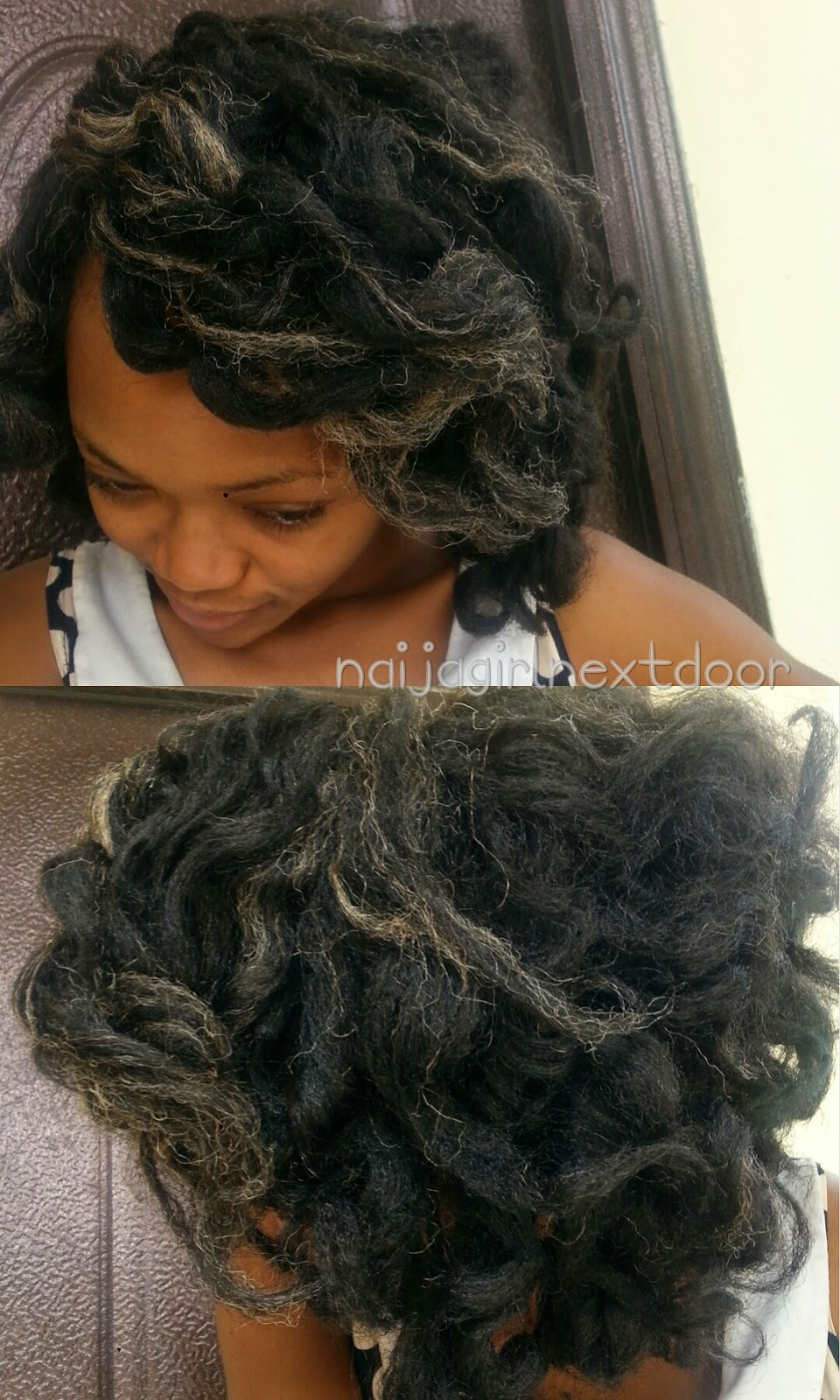 Crochet Braids Part : style: Crochet braids with invisible part (no knot) Naija girl ...