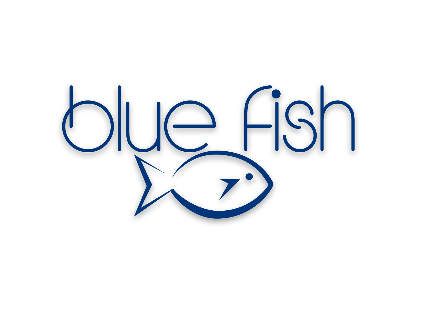 Fish Logo Design Details Blue Fish Logo Design
