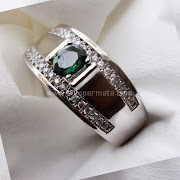 Cincin Batu Permata Green Sapphire Ceylon - SP655