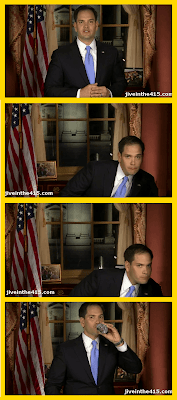 Senator Marco Rubio (R-FL) delivers the GOP response to the State of the Union 2-12-2013