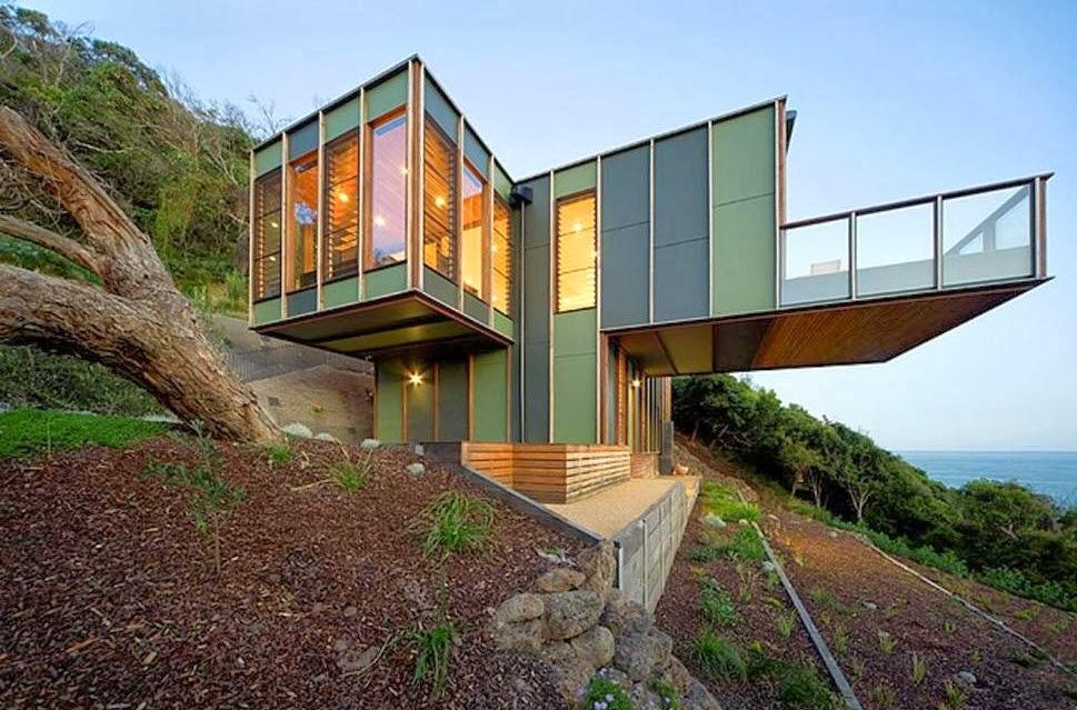 Dise o de casa en forma de rbol de dos pisos pisos for Architecture contemporaine definition