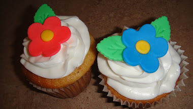 Flower Birthday Cupcakes