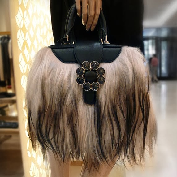 Louis Vuitton Transsiberian PM Refined Goat Fur and Swarovski Crystals handbag.