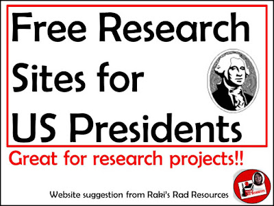 Free websites to help you research US presidents, great for student projects for president's day! Website suggestion from Raki's Rad Resources
