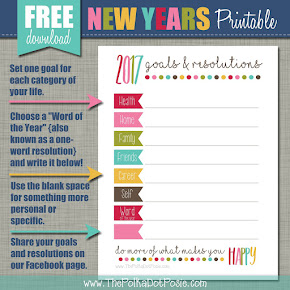 FREE 2017 Goals & Resolutions Printable!