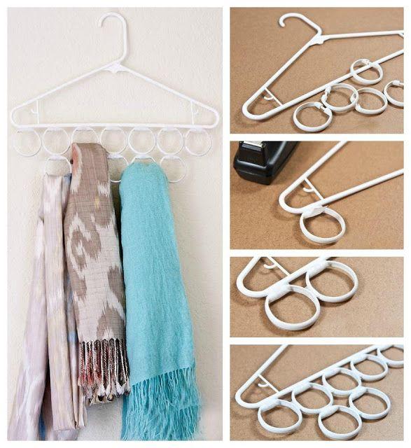 Ordenar en el armario pañuelos y bufandas