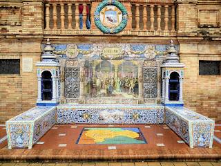 Plaza de España - Sevilla - Azulejo de Guadalajara