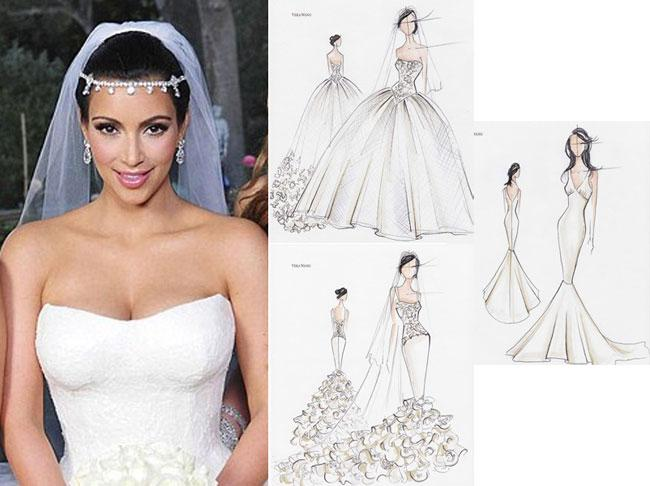 Kim kardashian wedding dresses 2014
