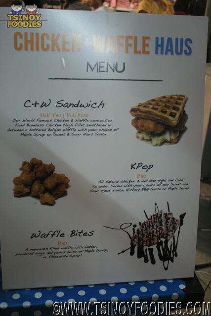 chicken waffle haus menu