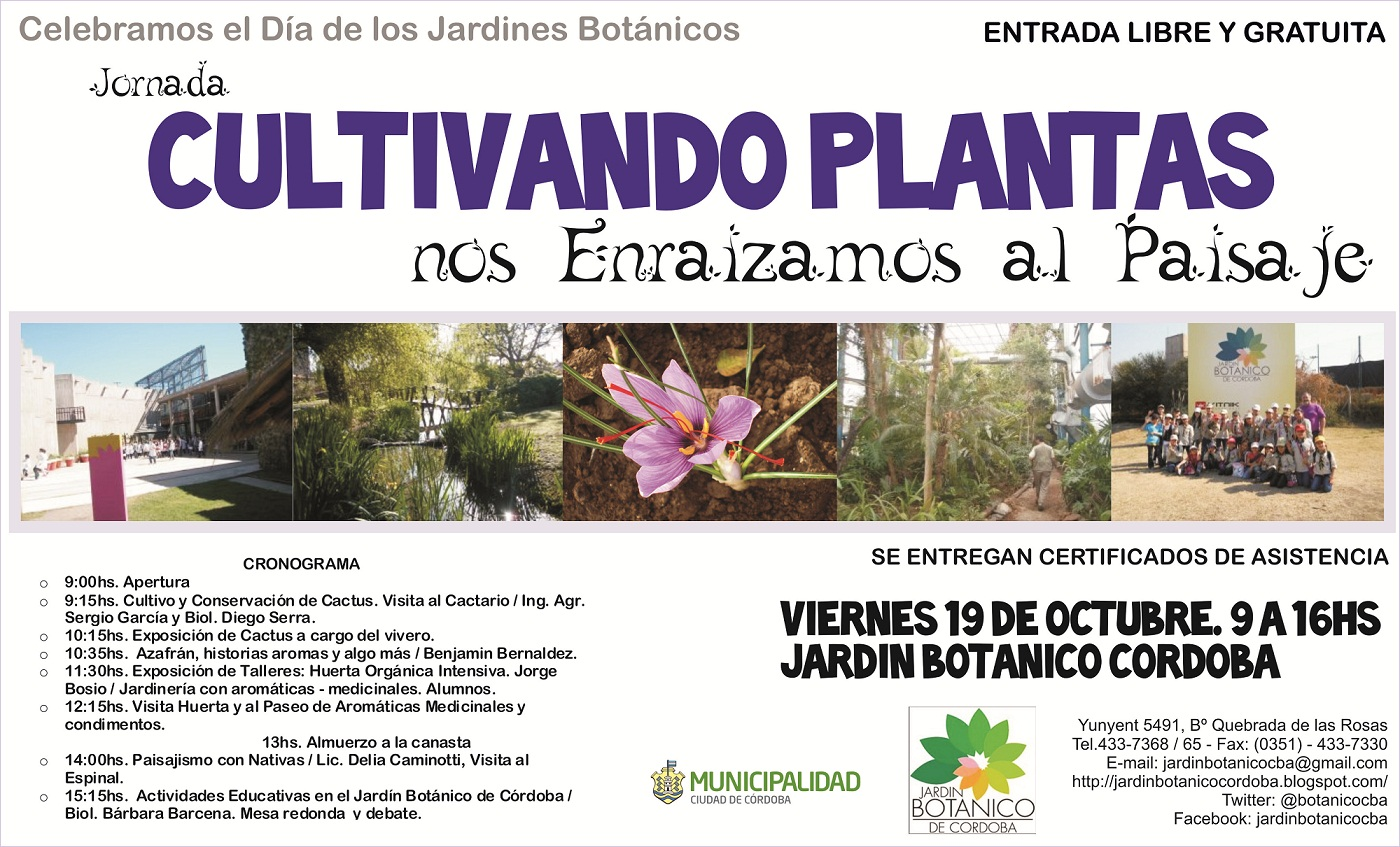 Jard n bot nico de c rdoba celebramos el d a de los for Jardin botanico cursos