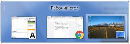 переключение между окнами в windows 7