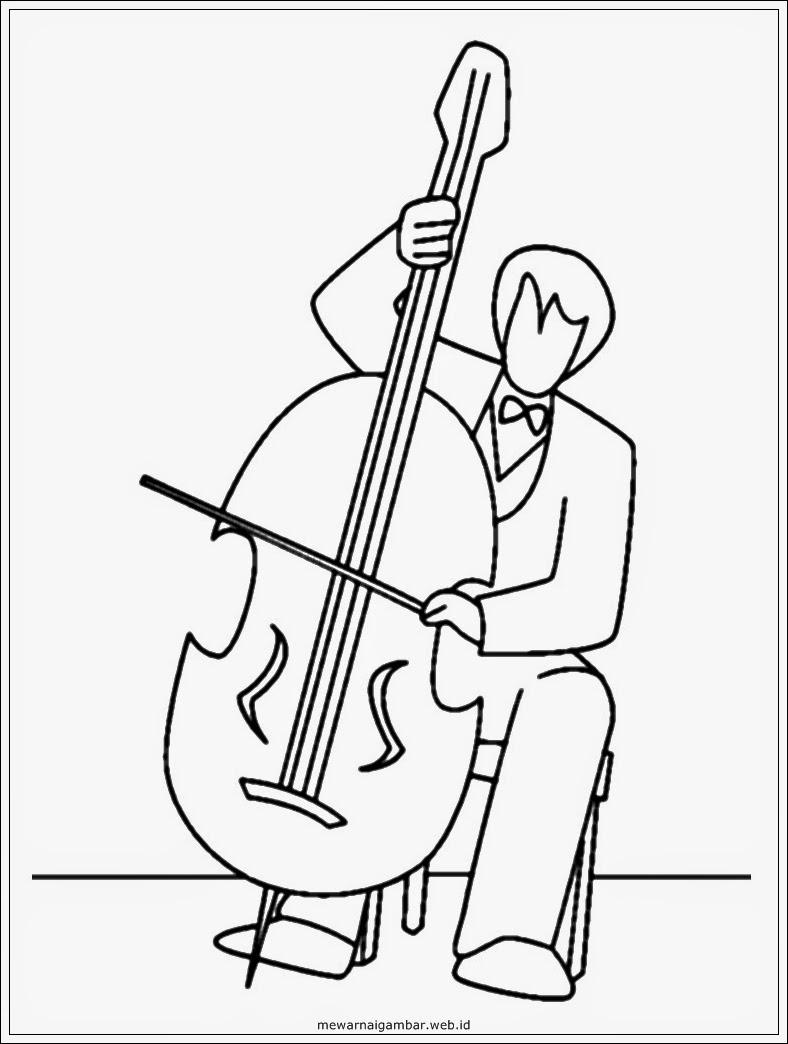 gambar mewarnai pemain musik