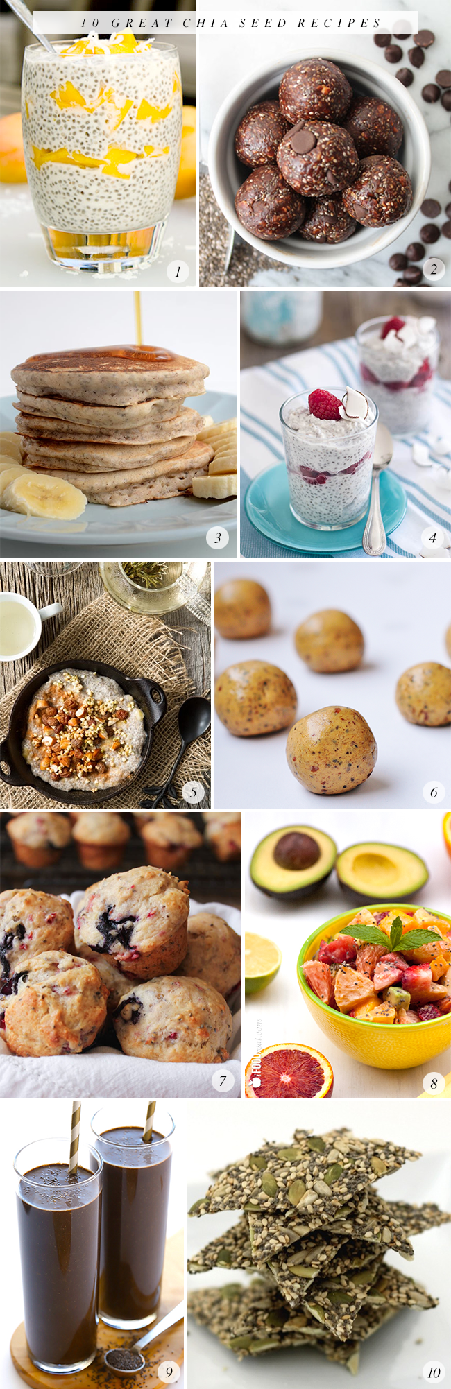 10 Great Chia Seed Recipes // Bubby and Bean