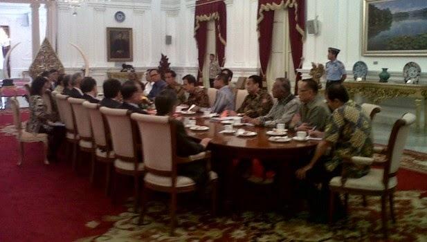 Presiden Joko Widodo ketika menerima delegasi Kadin Jepang