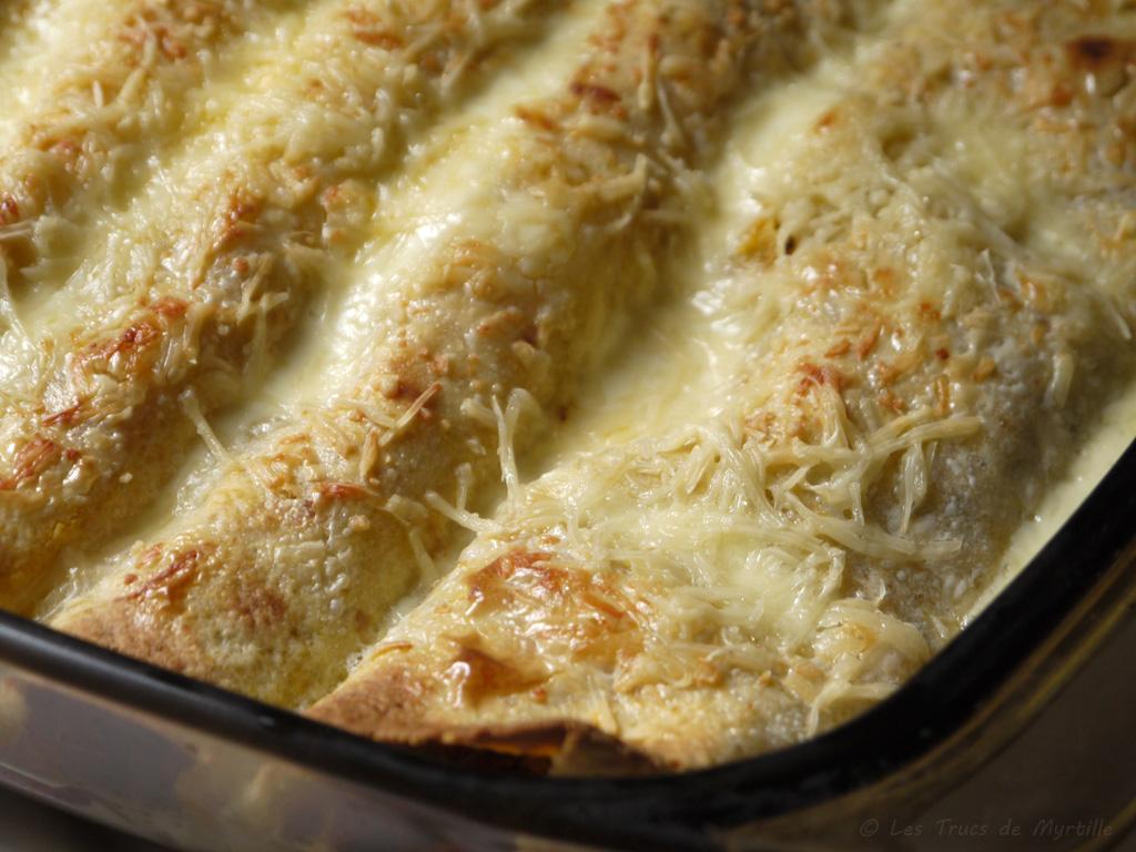 Voir la recette des burritos gratinés au boeuf et au poivron