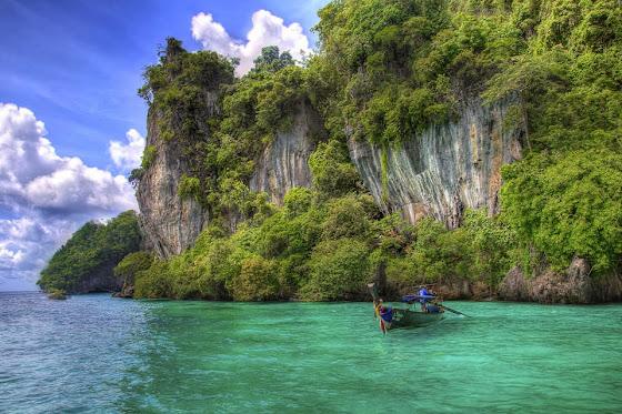 Die Andamanensee mit ihrem kristallklaren Wasser
