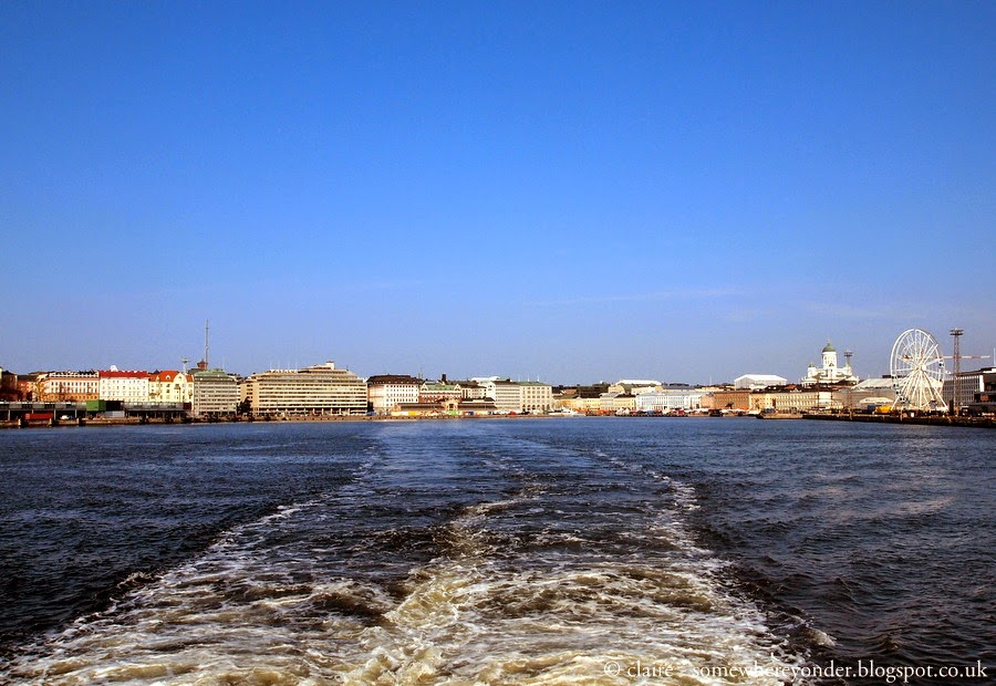 On our way to the Suomenlinna Sea Fortress, Helsinki