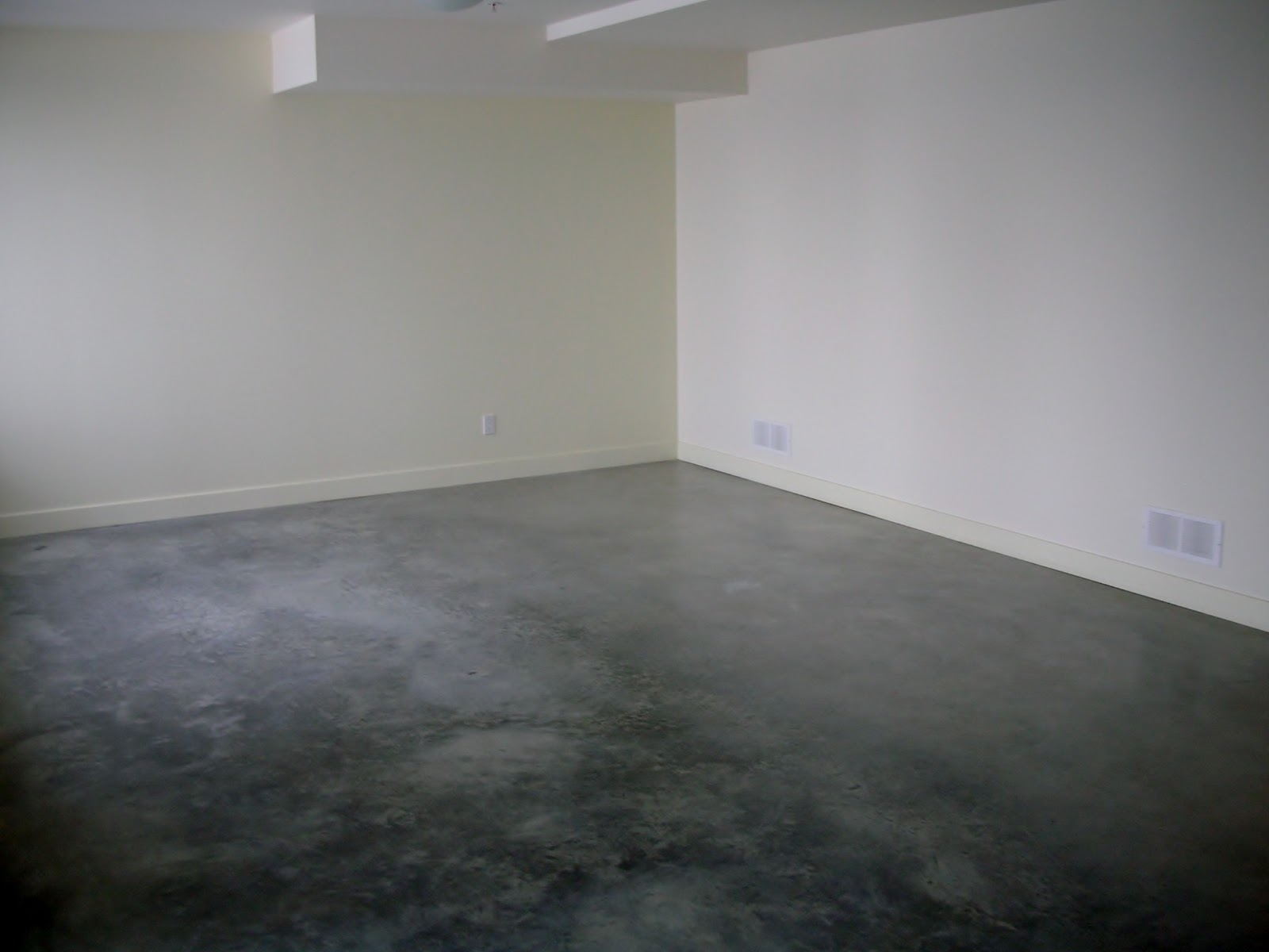 Here Is A Basement Concrete Floor That We Recently Sealed And Waxed