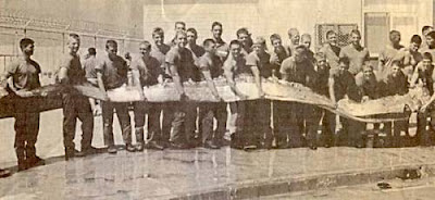 large oarfish in vintage photo