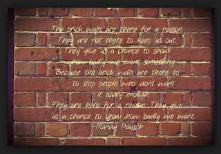 quote about brick walls