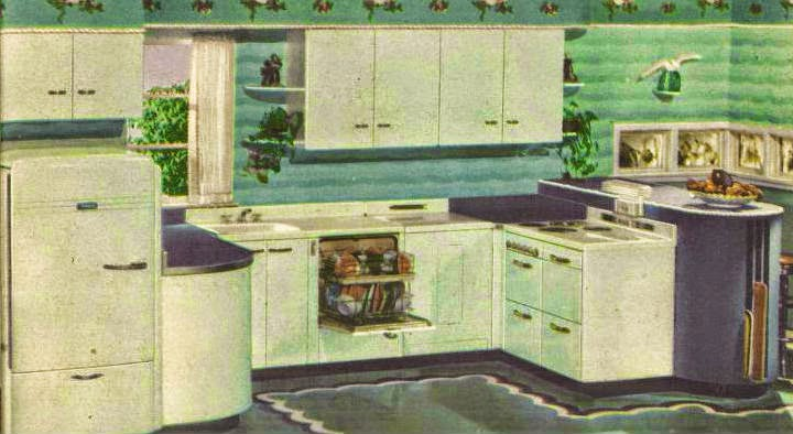 appliances in the early 1940s  my hope as always is that if you have such a kitchen and are considering replacing it with stainless steel and granite     some enticing art moderne and streamline kitchens  hotpoint      rh   artdecoresource com