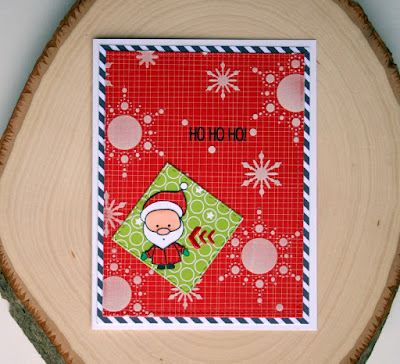 Santa Christmas Card by Jess Gerstner featuring Create a Smile Snow Dance Kit