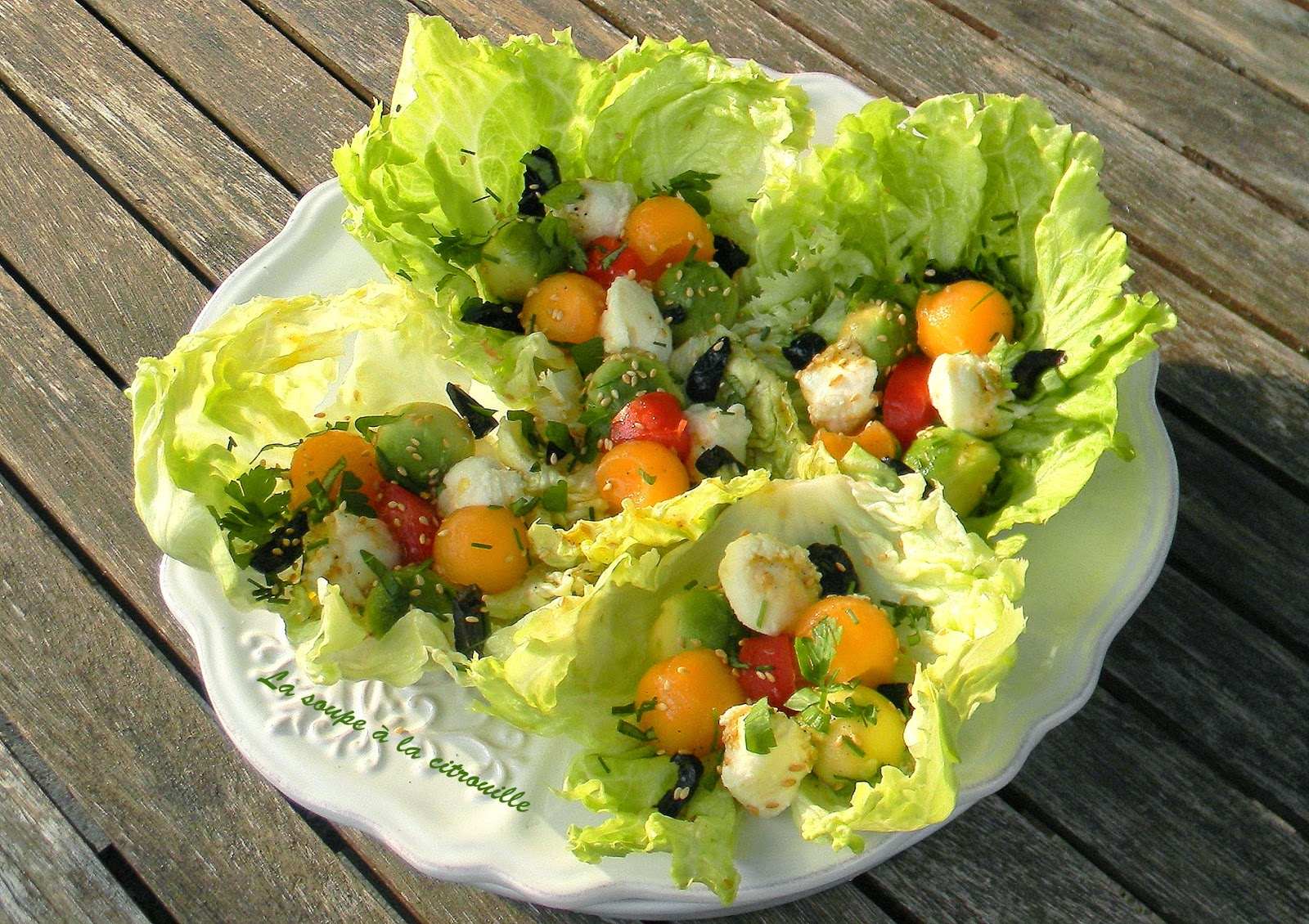la soupe la citrouille salade de billes multicolores au s same. Black Bedroom Furniture Sets. Home Design Ideas