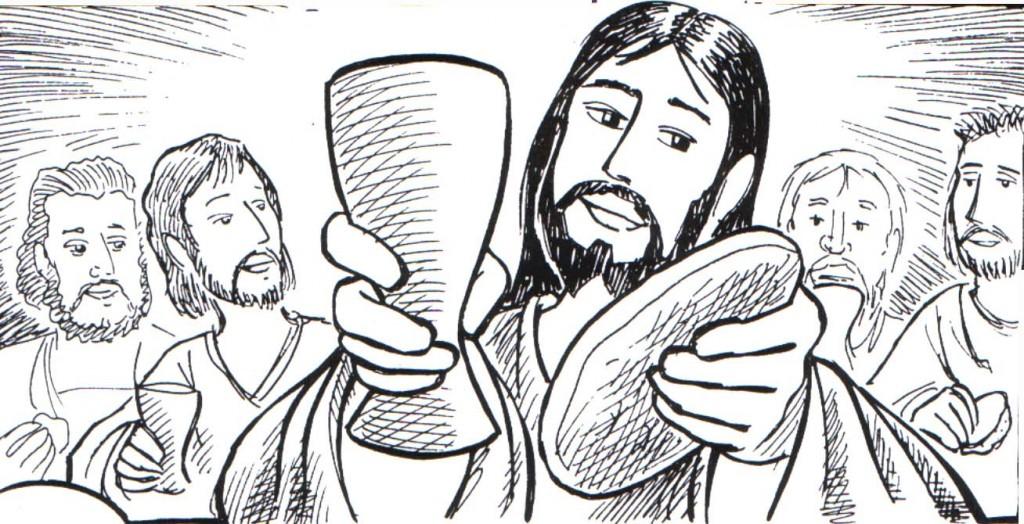 Dibujo de La ultima cena para colorear ~ Dibujos Cristianos Para ...