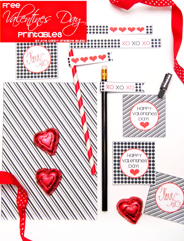 free valentines day printables, valentines day, black and white, XO