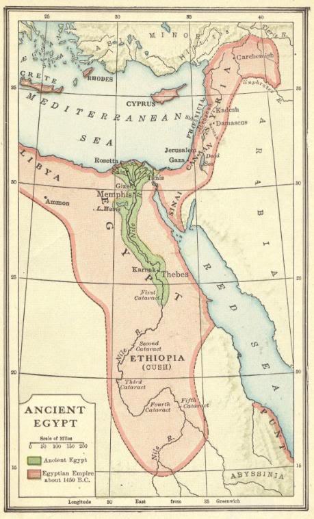 Tamadun Mesir Purba Lokasi