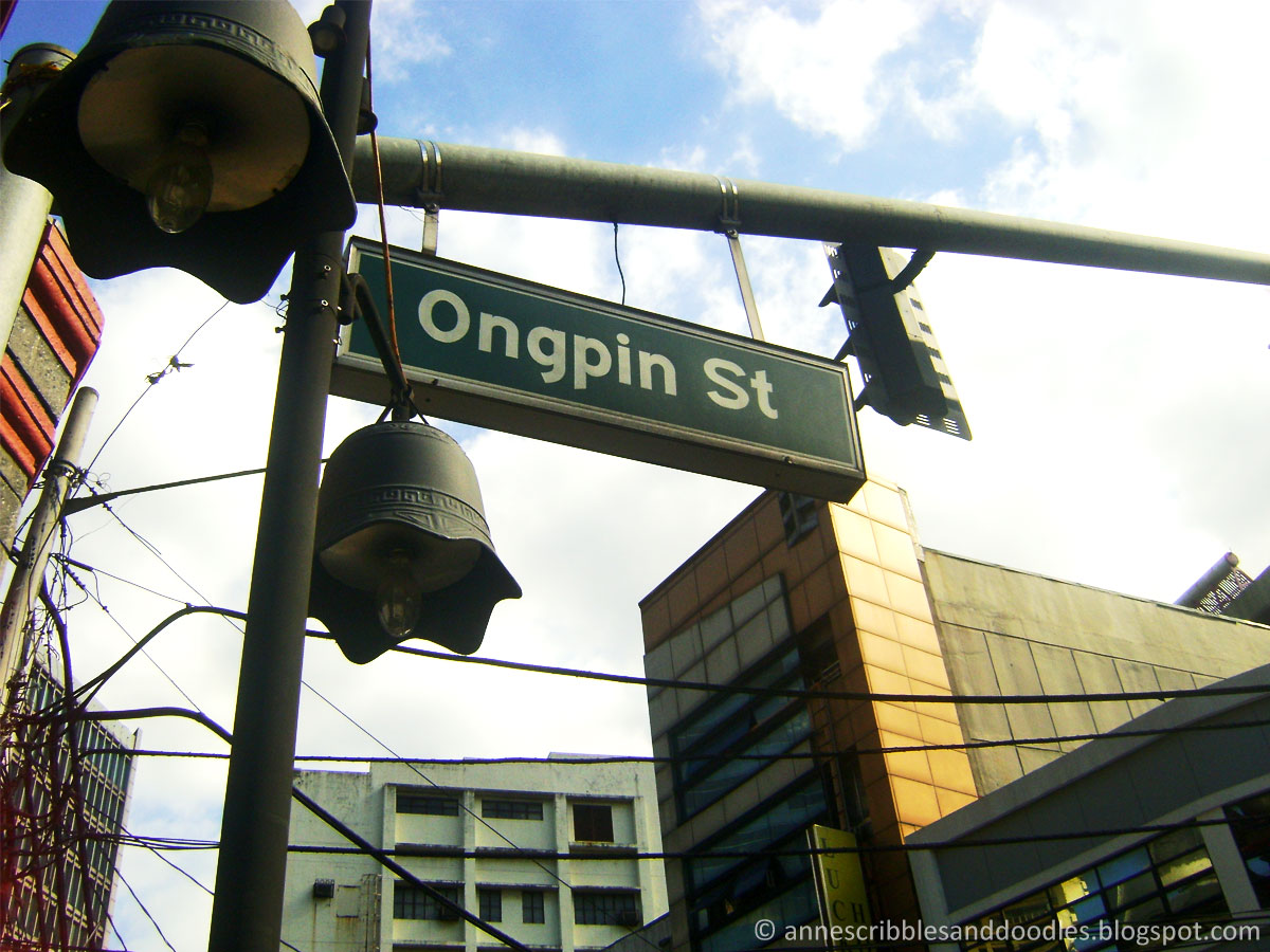 Ongpin Street Sign
