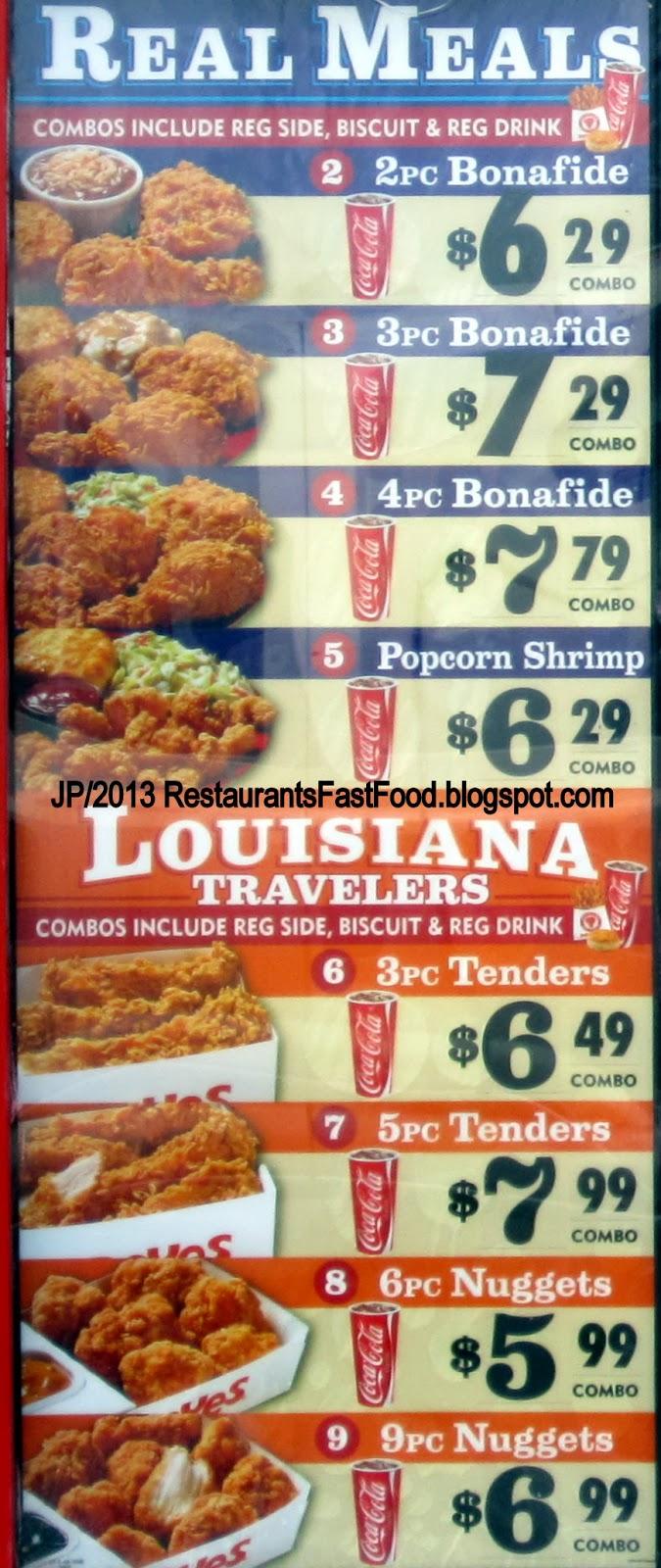 Popeyes Louisiana Kitchen Menu Tallahassee Florida Leon Costate University Restaurant Hospital