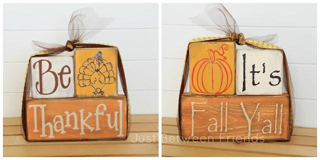 Fall/ Thanksgiving Wood Stacker